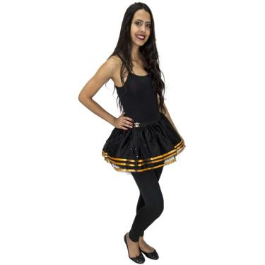 239f3e37c2 Fantasia de Halloween Saia Tutu Black Caveira Adulto Feminina - P 38 - 40