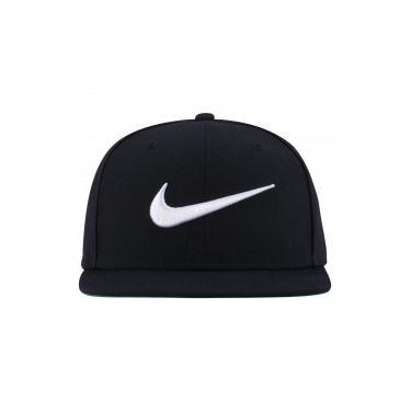 183188e66fdc1 Boné Aba Reta Nike Swoosh Pro - Snapback - Adulto - PRETO BRANCO Nike