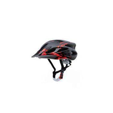 Capacete Para Ciclismo Tsw Raptor 2 Com Led Traseiro E Viseira Tamanho M 54/58 Cm Com Regulagem