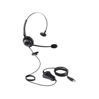 Headset Fone Intelbras CHS55, Monoauricular, USB - Preto