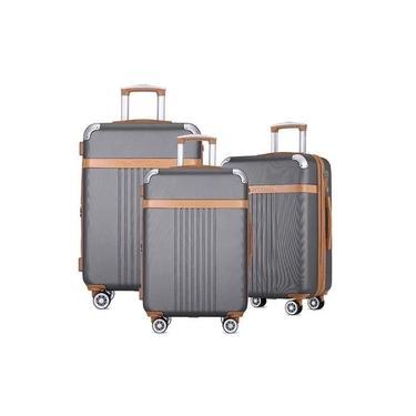 Kit Conjunto Mala Viagem Santino B182 Expansor 360 Tsa G M P