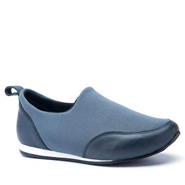 Sapatênis Feminino 608 em Techprene Grafite Doctor Shoes-Marinho-35