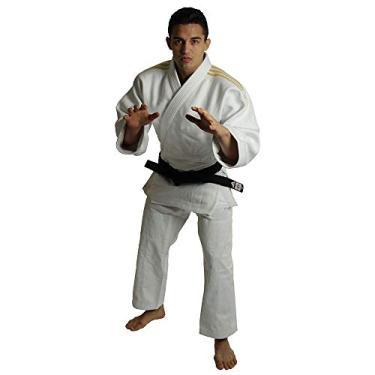 Kimono Adidas J990 Millenium Branco Listas Douradas 160