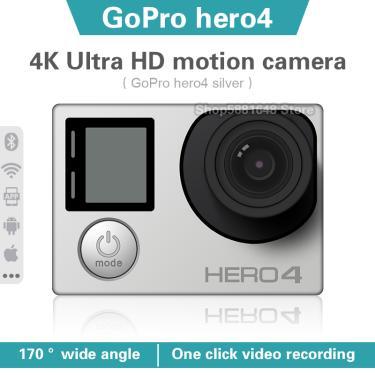 Imagem de Gopro hero 4-câmera de ação à prova d'água, 4k, ultra hd, portátil, com wi-fi, conexão para capacete