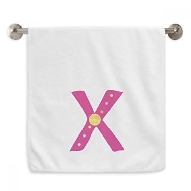 Imagem de DIYthinker Toalha de mão com estampa de frutas laranja X alfabeto toalha de mão de algodão macio toalha de rosto