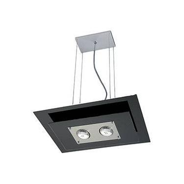 Pendente 31251 Alumínio/Vidro Cromado Vidro Preto - Pantoja&Carmona