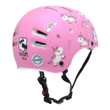 d94ea801d5 Capacete Infantil Kraft Bike Unicórnio Rosa PP NBR16175