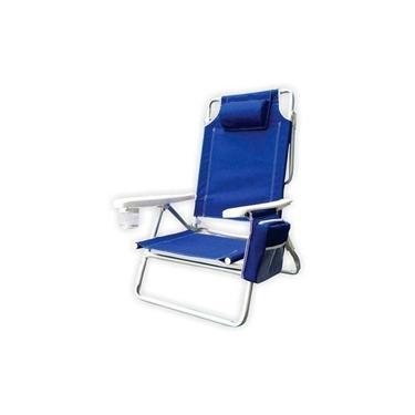 Cadeira De Praia Reclinável Com Bolsa Térmica - Kala