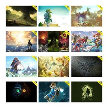 Placas Decorativas 30x20cm The Legend Of Zelda Nintendo Game