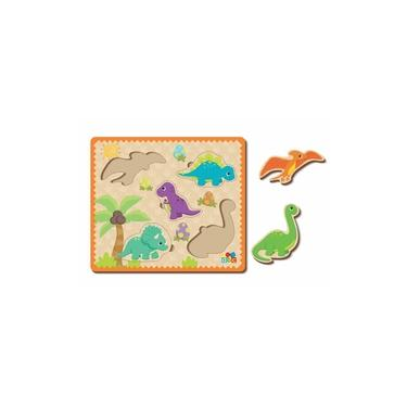 Imagem de Quebra-Cabeça de Encaixe - Dinossauros, da ABC - Cód. 8014