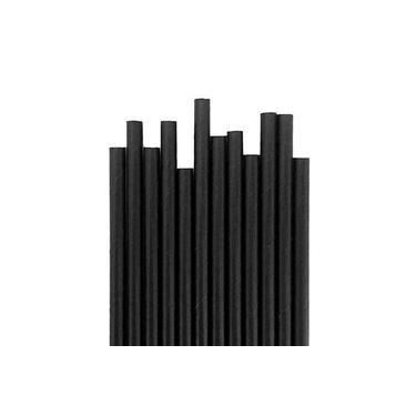 Canudo de Papel Preto c/25 Unidades - 1 Pacote