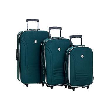 """Imagem de Conjunto de 3 Malas para Viagem Batiki 19/23/27"""" – Verde - BTK65-1"""