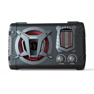 Caixa Som Amplificada Bluetooth 45w Usb Fm Bateria Clock Amvox - Preto