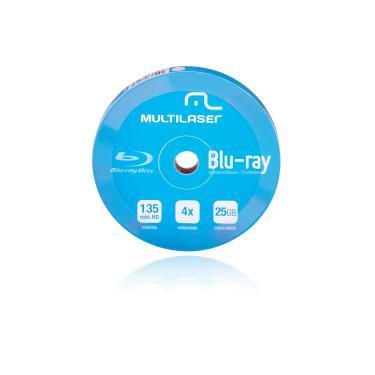 Mídia Dvd-R Multilaser Shrink Blue Ray Pino C/10 - DV057 DV057