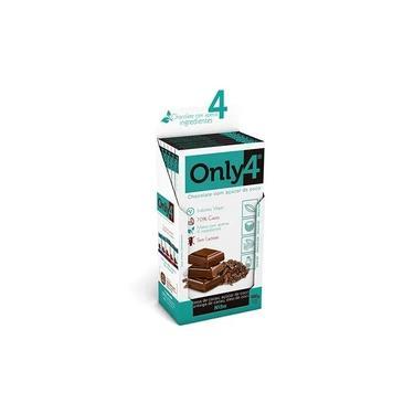 Chocolate Only4 70% - Nibs de Cacau Sem Lactose Caixa com 6 un de 80g