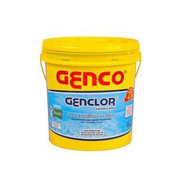 Imagem de Genclor Granulado Cloro Estabilizado 100 Ativo 10kgs Genco
