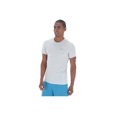 Camiseta Nike Dry Cool Miler Top SS - Masculina - BRANCO CINZA Nike 7e7417fc4033c