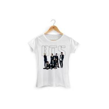 Camiseta Bts Feminina Blusa Bts Personalizada 7bb59bbc5d913