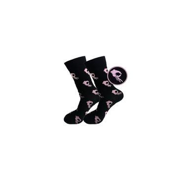 Imagem de Rosa Roxo Unisex Gesto Meias loucos Impresso Socks Casual Sports meias de algodo