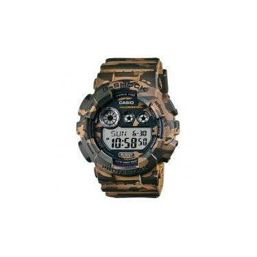 7b2e4359638 Relógio G-Shock GD-120CM-5DR Casio Camuflado Masculino -