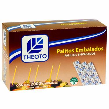 Palito de Dente Embalado Madeira Theoto 2000 Unidades 1001318