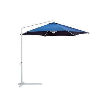Ombrelone Malibu 3m com Manivela Azul 009001 - Mor