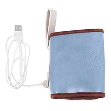 Imagem de STOBOK Aquecedor de Mamadeira Capa Portátil Carro Viagem Aquecedor de Mamadeira Usb Protetor de Calor de Leite Proteção de Mamadeira Termostato Aquecedor de Alimentos Azul