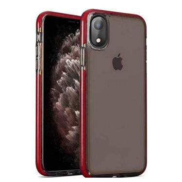 Capa acrílica antishock para Apple iPhone Xr - Borda Vermelha