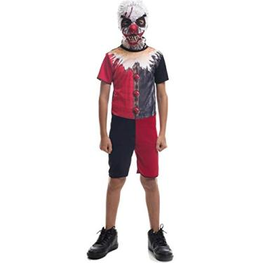 Imagem de Fantasia De Halloween Infantil Masculina Palhaço IT A Coisa Com Máscara P 2-4
