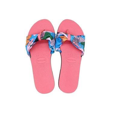 Chinelo Havaianas You Saint Tropez Feminina - Rosa e Azul