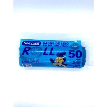 Saco De Lixo Reforçado Azul 15l, 30l, 50l, 100l P/reciclagem (50L)