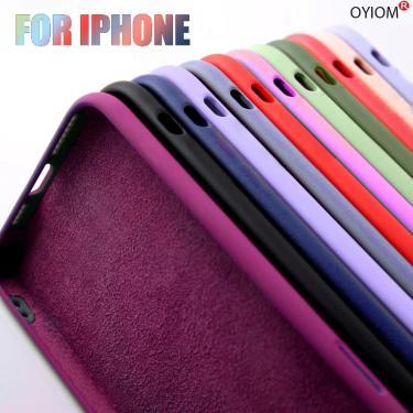 Original silicone líquido caso de luxo para apple iphone 11 12 pro max 128g mini 7 8 6s plus xr x xs