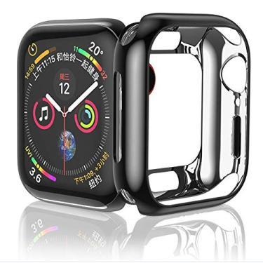 Capa Lisa Para Apple Watch Series 1 2 3 4 tamanho 42mm preta