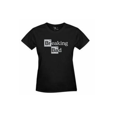 Camiseta Breaking Bad Estampa Prata - Feminina
