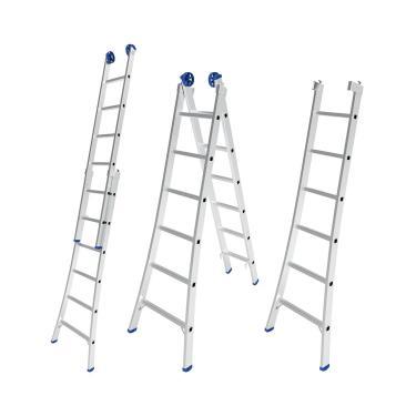 Escada Extensível De Alumínio 12 Degraus 2X6 Mor 5202