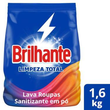 Imagem de Sabão em Pó Brilhante Limpeza Total 1,6kg