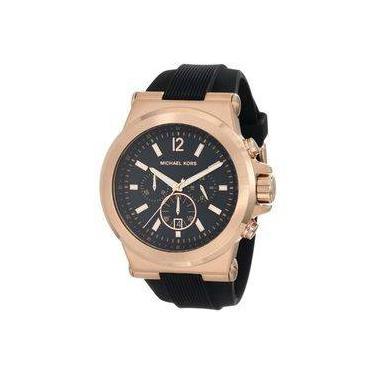 8fd3f83296e08 Relógio Michael Kors Unissex Mk8184 Preto Rose 48mm Oferta
