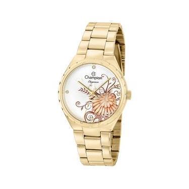 d783bfc3cc0 Relógio Feminino Analógico Champion CN25501H - Dourado