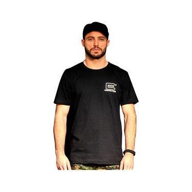 30ee363973 Camiseta Masculina Tamanho M Bravo Glock Preta e Branca