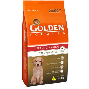 Ração Seca PremieR Pet Golden Formula Cães Filhotes Frango e Arroz - 20 Kg