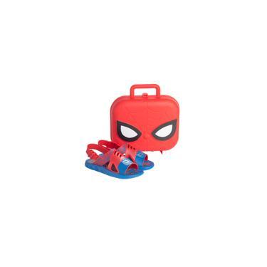 Imagem de Sandália Infantil Grendene Marvel Hero Case Azul Vermelho
