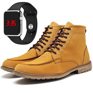 Bota Coturno Urbano Adventure Moc Toe Com Relógio LED Silver DUBUY R510DB Tamanho:44;cor:Amarelo;gênero:Masculino