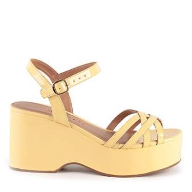 Sandália Sara 817-12730 Verniz Amarelo Amarelo - 34