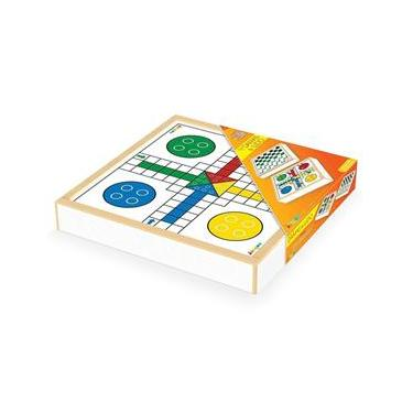 Jogo de Tabuleiro Brinquedo Jogo de Damas e Ludo Junges 236