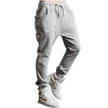 Calça Moletinho Moleton Saruel Skinny Masculina M2 (cinza claro, g)