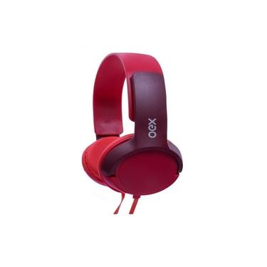 Imagem de Headphone Teen Vermelho Oex Hp303 Com Microfone Estéreo Oex