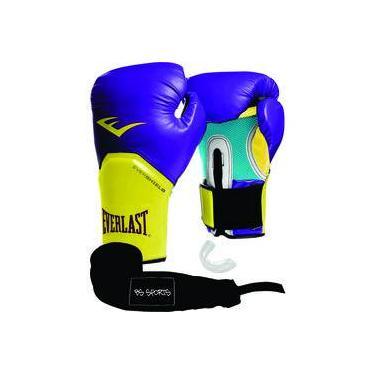 Kit Luva Everlast Pro Style Elite Roxo 12oz Bandagem bucal 87221e05fffc7