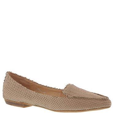 Silent D sapato mocassim feminino bico fino de couro cigano, Marrom, 6