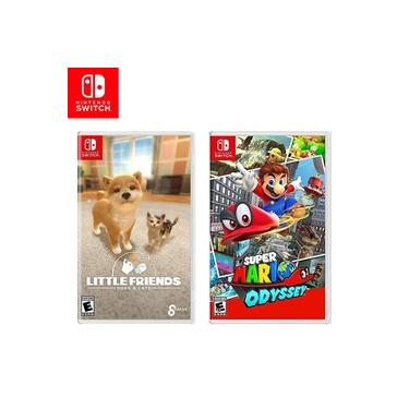 Kit Jogos Switch Litlle Friends: Dogs & Cats e Super Mario Odyssey