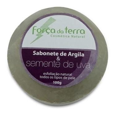 Sabonete de Argila e Semente de Uva 100g - Força da Terra